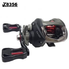 K8356 6.3:1 Gear Ratio 11 Ball Bearings LeftRight Hand Magnetic Brake Saltwater Freshwater Baitcasting Fishing Fly Fishing Reel