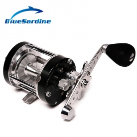 Right Hand Metal Cast Drum Wheel Black Bait Casting Fishing Reel Boat Sea Saltwater 3+1 Ball Bearing Baitcasting Reels